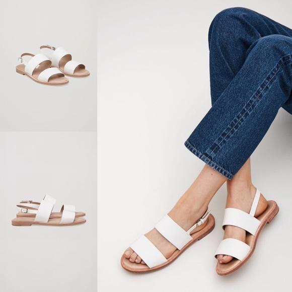 Nwt Cos White Double Strap Sandal